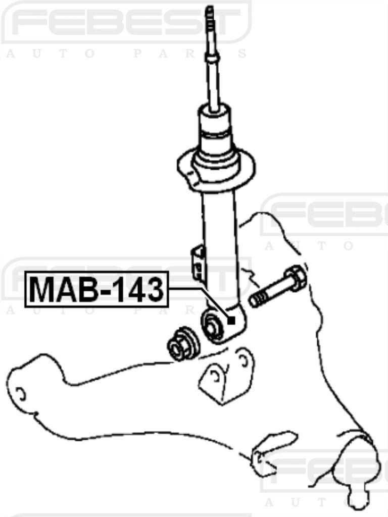 Arm Bushing Front Shock Absorber For Mitsubishi Mr992320 Mr992320