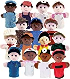 Get Ready Kids Community Helper Career Puppet Set of 15