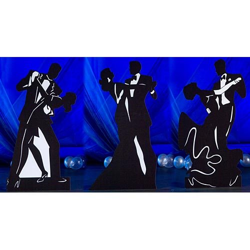(Dancing Couple Silhouette Standees)