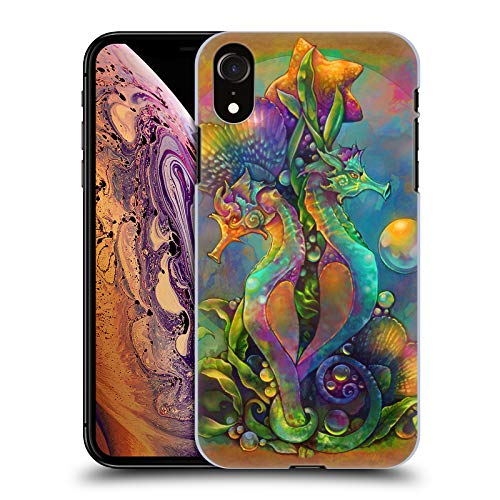 - Official Renee Biertempfel Sea Horses Animals Hard Back Case for iPhone XR