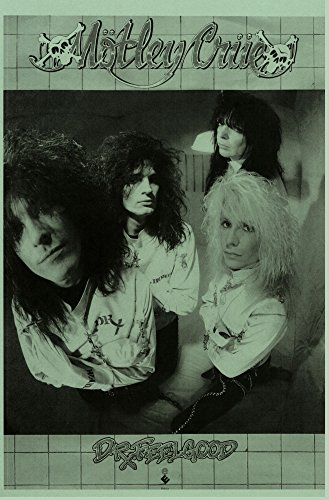 Motley Crue Dr. Feelgood 1989 Retro Art Print — Poster Size — Print of Retro Concert Poster — Features Mick Mars, Nikki Sixx, Tommy Lee and Vince Neil.