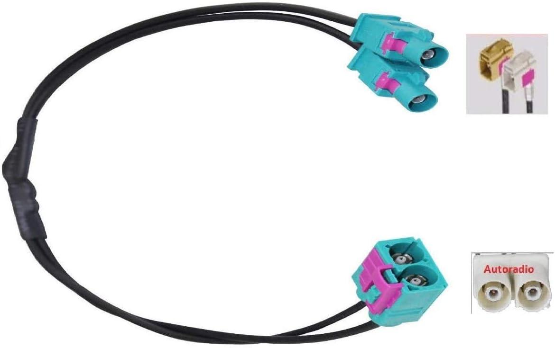 M I C Skaa 51b Kfz Auto Radio Antenne Adapter 2 X Fakra Stecker Doppel Fakra Buchse Passend Antennenanschluss Antennenadapter Für Vw Rns Rcd Plus Mfd Av8v6 Avm8 Avm9 Ab8 Elektronik