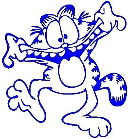 Garfield-Pegatinas Prespaziato-color azul-10 cm: Amazon.es: Coche y moto