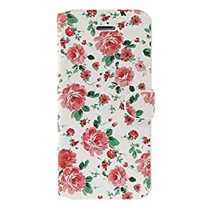 Piaopiao Ultra-light Delicate Peonies Pattern PU Full Body Case with Stand for iPhone 5/5S (Assorted Colors) , Gold