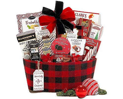 Happy Holidays Gift Basket With Award Winning Brands and Savory Treats ()