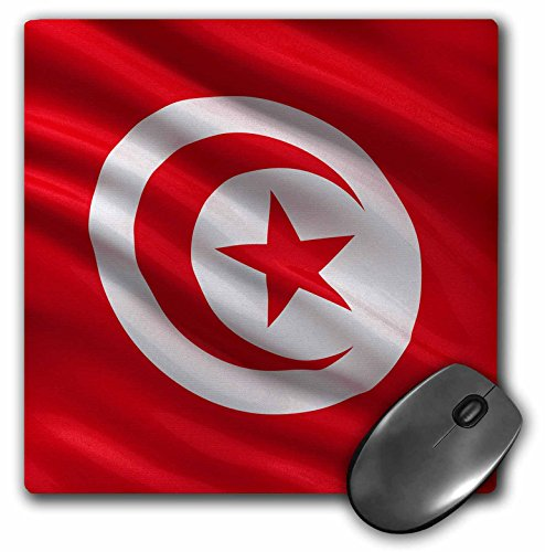 Price comparison product image 3dRose LLC 8 X 8 X 0.25 Inches Mouse Pad Flag of Tunisia (Mp_174036_1)