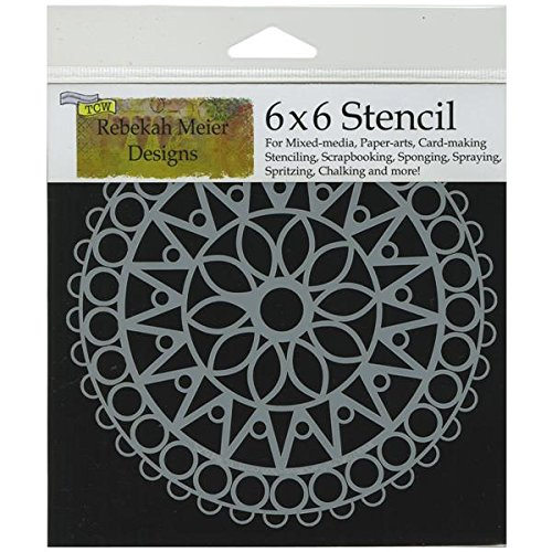 - CRAFTERS WORKSHOP TCW6X6-462 Template, 6 by 6-Inch, Stained Glass