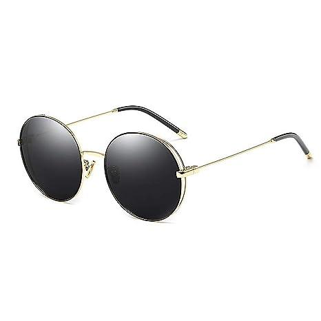 KOMEISHO Novedad diseñador Tonos Gafas de Sol polarizadas Redondas para  Mujeres Protección UV Lente de Color f7faaef4fad9