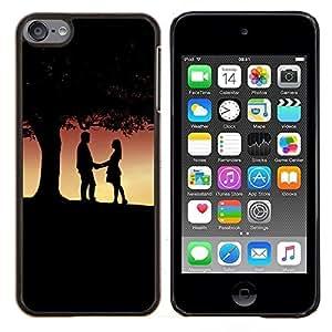 """Be-Star Único Patrón Plástico Duro Fundas Cover Cubre Hard Case Cover Para iPod Touch 6 ( Pareja bajo el árbol"""" )"""