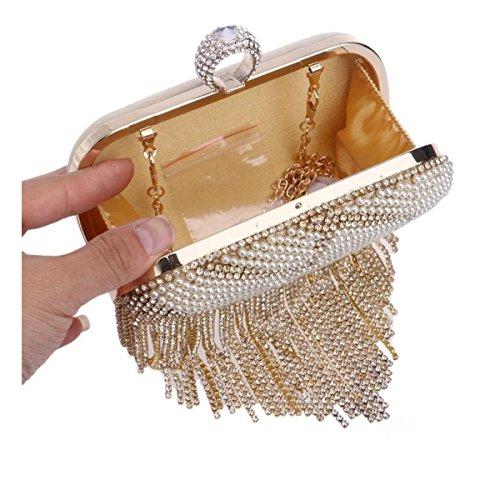 Paquete De La Cadena Bolso De La Tarde Europa Y Los Estados Unidos El Nuevo Embrague Bolso De Hombro Paquete Diagonal Gold