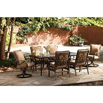 Thomasville Messina 7 Piece Patio Furniture Dining Set With Cocoa