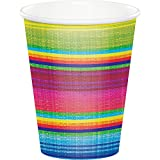 Creative Converting 322287 96 Count 9 oz Hot/Cold Paper Cups, Serape