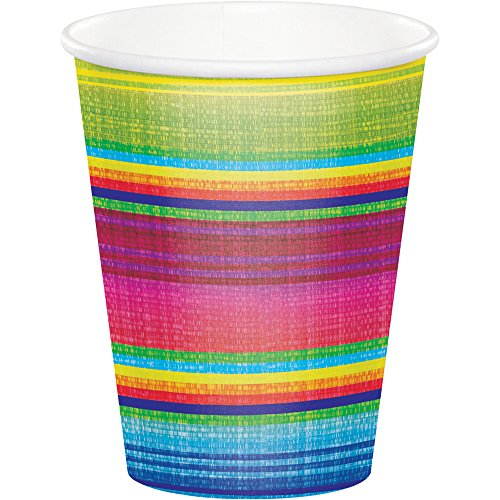 Creative Converting 322287 96 Count 9 oz Hot/Cold Paper Cups, Serape