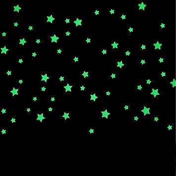 Diy Sternenhimmel amazon de diy selbstklebende leuchtsterne sterne sternenhimmel 100