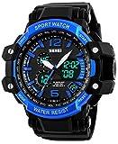 Carlien Multifunction Quartz Dual-Time Calendar Chrono Alarm Backlight Waterproof Sport Watch