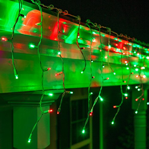Led Icicle Lights Red Green in US - 1