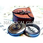 Meridian Nauticals KHUMYAYAD Antique Brass Poem Compass 2 Along with Leather case Maritime Nautical Vintage compss 7