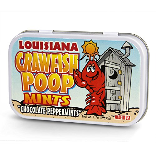 Louisiana Crawfish Poop Chocolate Mints