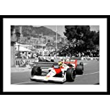 Framed Ayrton Senna Monaco 1998 Formula 1 Spot Colour Photo Memorabilia
