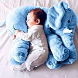 Stuffed Elephant Plush Animals Toy Gift for Children Girlfriend Blue 24 inches