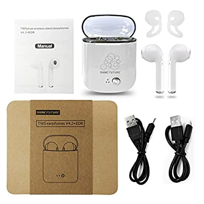Bluetooth Earbuds Wireless Bluetooth Earbuds Bluetooth Headphones Twins in-Ear Headsets Earphones Earpieces with Charging Case for Bluetooth Devices