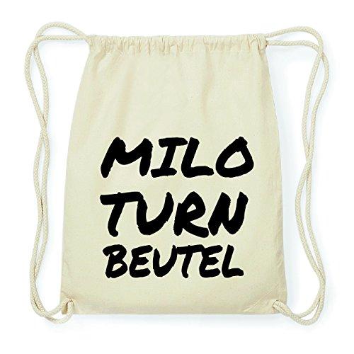 JOllify MILO Hipster Turnbeutel Tasche Rucksack aus Baumwolle - Farbe: natur Design: Turnbeutel q7ZE2FF