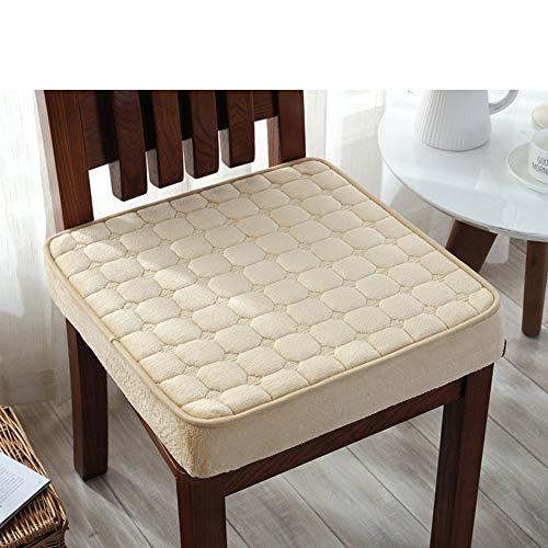 Firefly-Mua Chair Cover, Winter Plush Padded Cushion Sponge Antiskid high Cushion-I 50x50cm(20x20inch) (Color : I, Size : 50x50cm(20x20inch)) ()