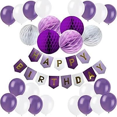 Amazon.com: Cocodeko - Banderines de feliz cumpleaños con 10 ...