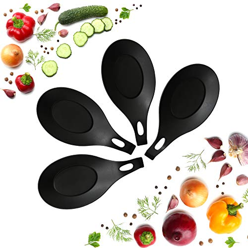 Silicone Spoon Rests (Set of 4) - Black