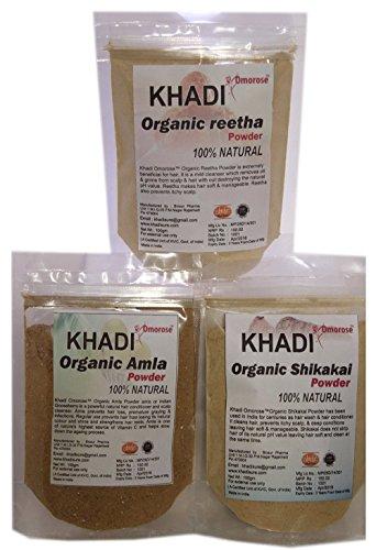 Khadi (Amla, Reetha, shikakai) Hair Care Combo 100 GMS X ()