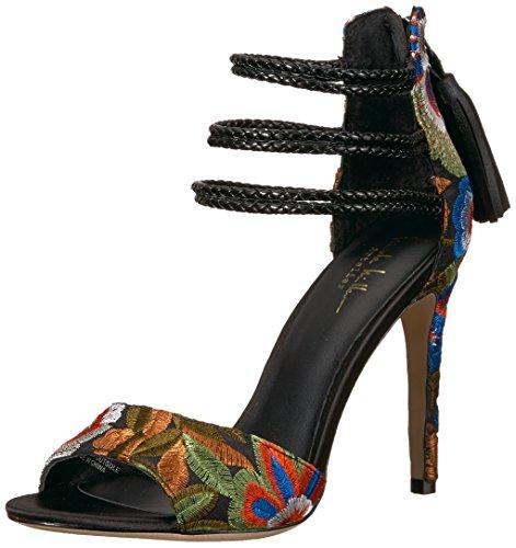 Nicole Miller Women Cabrini-NM Platform Black Floral
