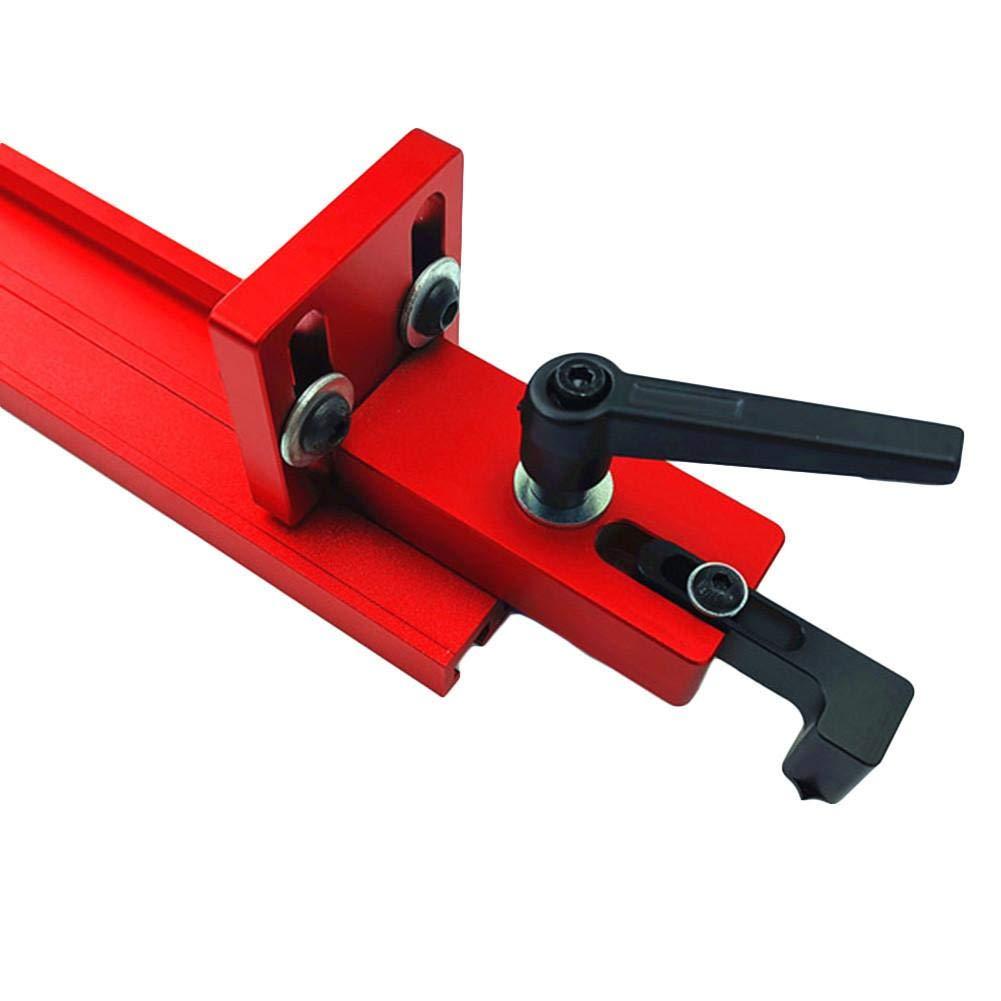 35//45 T-Slot Mitre Pista Tope Deslizante Inglete Calibrador Valla Conector Carril de retenci/ón Canaleta Localizador Carpinter/ía Fresado