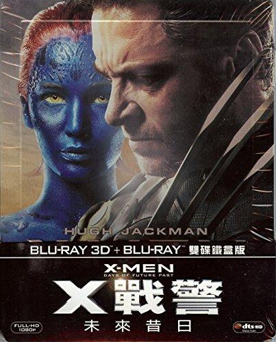 X-Men: Days of Future Past 2-Disc (Blu-ray 3D + Blu-ray) Limited Edition SteelBook (Region A Taiwan Import)