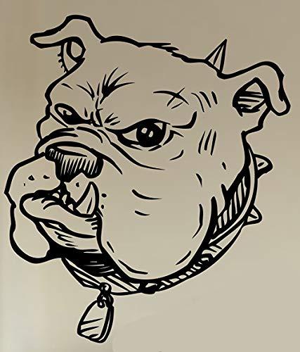 CrazyWEN-Sticker-Bulldog Face Version Decal Sticker Wall Animal Kid Child Room Boy Girl Teen Nursery -