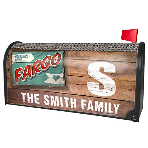 NEONBLOND Custom Mailbox Cover Greetings from Fargo, Vintage Postcard]()
