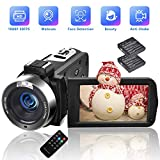 Camcorders Video Camera 18X Digital Zoom Volg Camera Full HD 1080P 30FPS Vlogging Camera Digital Camcorder with Two Batteries