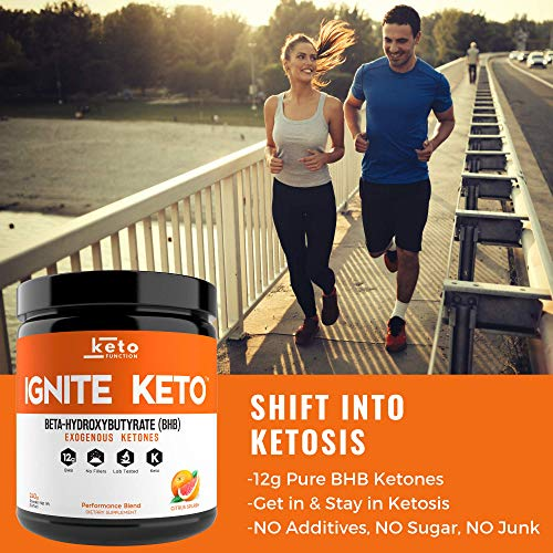 IGNITE KETO Drink - Instant Exogenous Ketones Supplement - 12g Pure BHB Salts - Fuel Ketosis, Energy, and Focus - Best goBHB Ketone Drink Powder Mix - Perfect for Low Carb Keto Diet by Keto Function (Image #2)