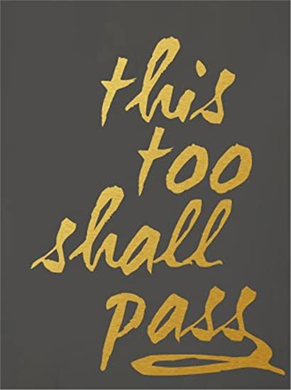 Amazon.com: This Too Shall Pass Wall Decal Wall Stickers Art Decor ...