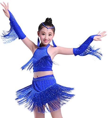 Salsa Costumes For Kids - Happy Cherry Little Girls Sequins Dance