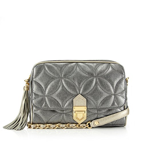 Eric Javits Designer Women's Handbags Dance Zip Pouch - Pewter/Gold by Eric Javits