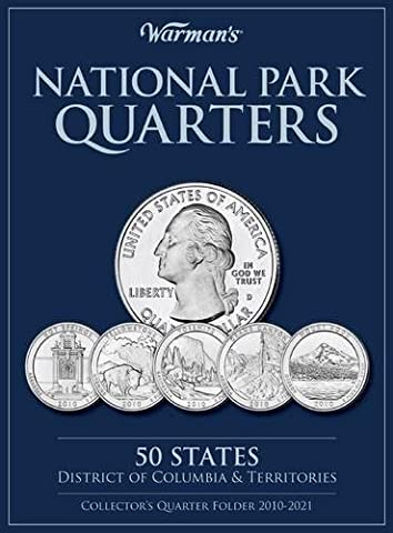 National Parks Quarters: 50 States + District of Columbia & Territories: Collector's Quarters Folder 2010-2021 (Warman's Collector Coin
