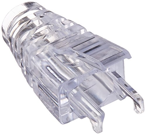 Black Box Ez-rj45 Cat5e Strain-relief Boot, 25-pack, Clear - Cable Boot - Clear - 25 Pack - Plastic