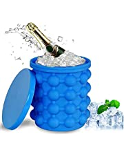 Cubitera Hielo Silicona, Moldes Para Hielo 2 En 1 Ice Cube Maker Bandeja De Cubitos De Hielo Con Tapas Antideslizantes Moldes Cubitera Silicona Para Whisky, CóCteles Y Bebidas