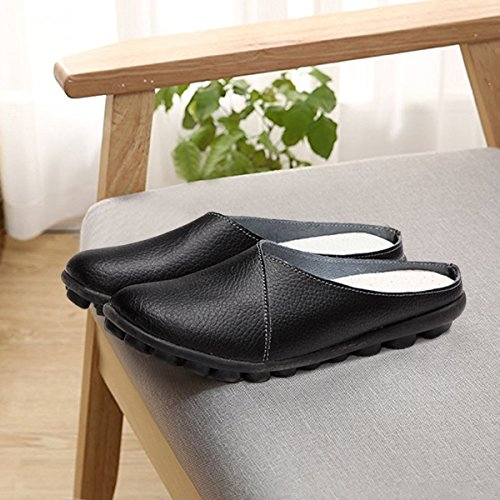 Tezoo Soft Color Pure Casual Shoes Slippers Casual Black Sole Walking Head Flat Round 0xrFw0Rq