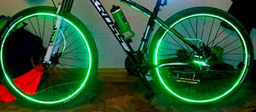 Lightning Bird 48 Bright Reflector Stickers for Sport Bike,Bicycle Wheels-Light Reflective Stick On for Helmet,Car Bumper, Wheel Rim Stickers by Lightning Bird (Image #5)