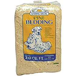 Sun Seed Company SSS18022 Northern White Pine Press Pack Small Animal Bedding, 4 Cubic Feet