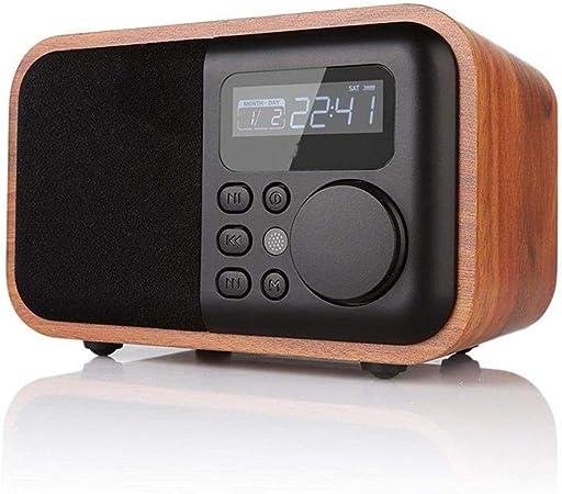 V.JUST Réveil numérique en Bois Haut Parleur Multifonctions
