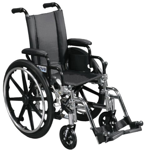 (Viper Wheelchair with Flip Back Removable Arms, Desk Arms, Swing away Footrests, 12