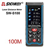 SW-S100 Rechargeable 100m Color Display High-Precision Laser Rangefinder Distance Meter Trena Laser Tape Measure Diastimeter