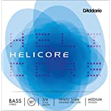 D'Addario Helicore Hybrid Bass String Set, 3/4 Scale, Medium Tension - HH610 3/4M